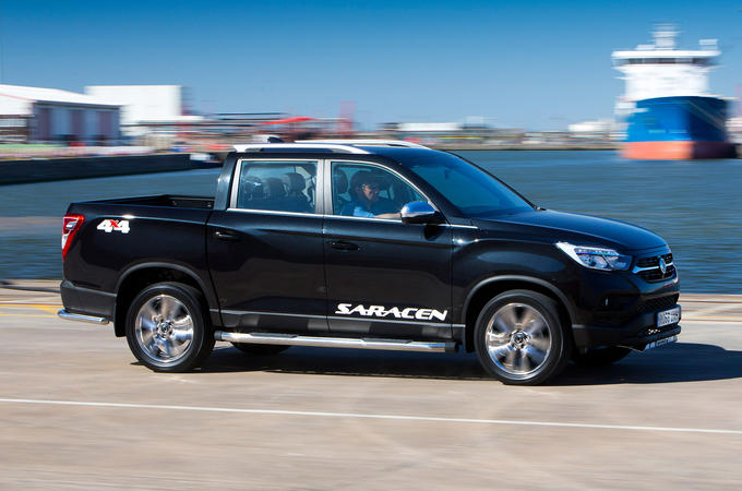 Ssangyong Musso Saracen 4x4 2018 road test review hero front