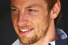 Jenson Button in Birmingham