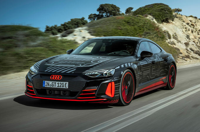 Audi RS E-tron GT 2021 prototype drive - hero front