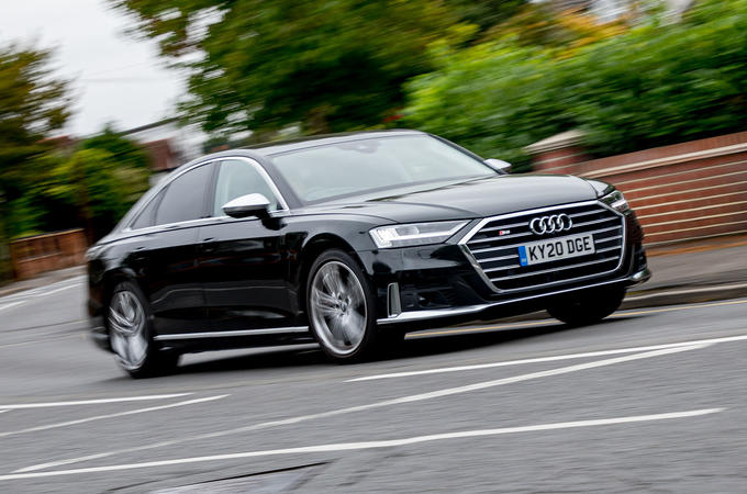Audi S8 2020 UK first drive review - hero front