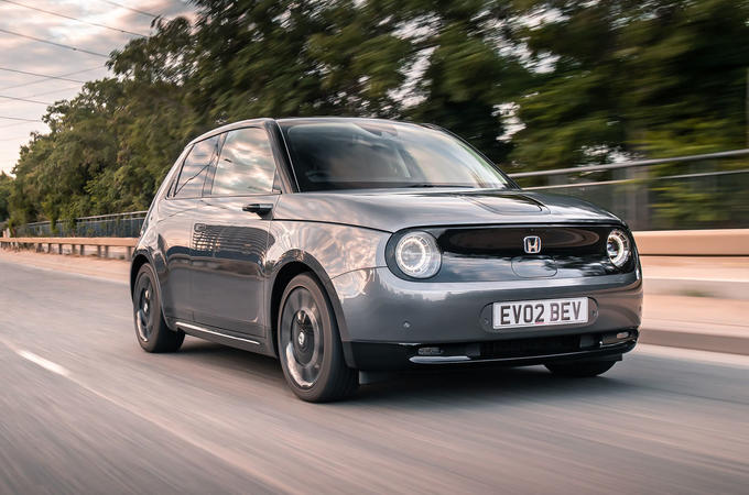 Honda e 2020 UK first drive review - hero front