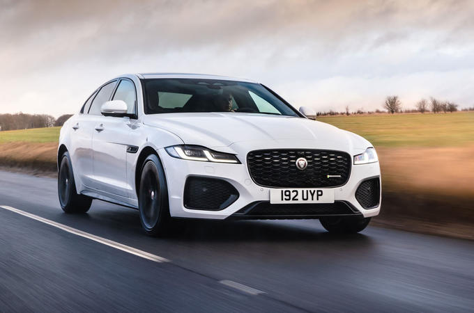 1 Jaguar XF 2021 UK first drive review hero front