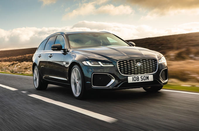 1 Jaguar XF Sportbrake 2021 UK first drive review hero front
