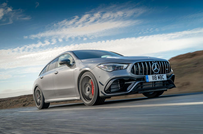 Mercedes-AMG CLA 45 S Shooting Brake 2020 UK first drive review - hero front