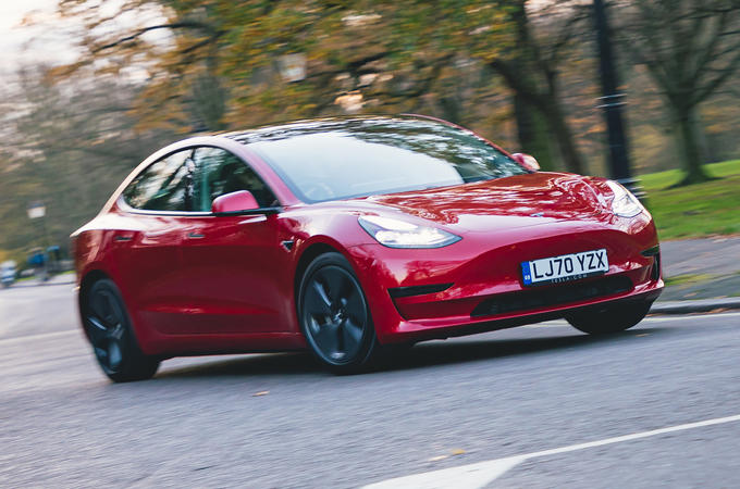 Tesla Model 3 Standard plus 2020 UK first drive review - hero front