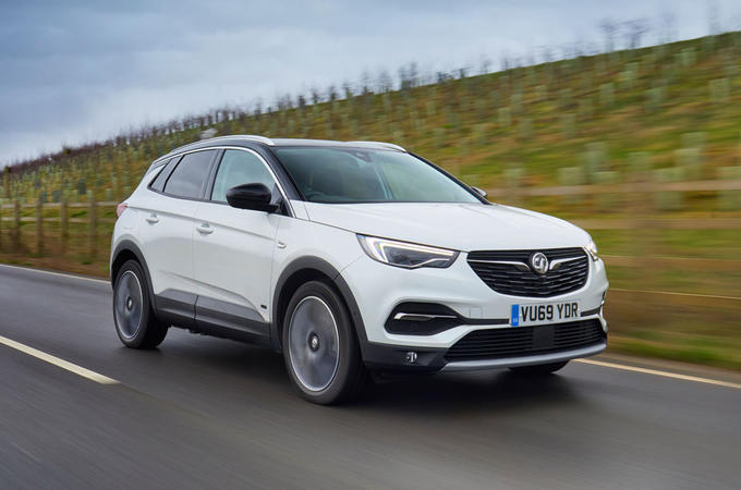 Vauxhall Grandland X Hybrid4 2020 UK first drive review - hero front