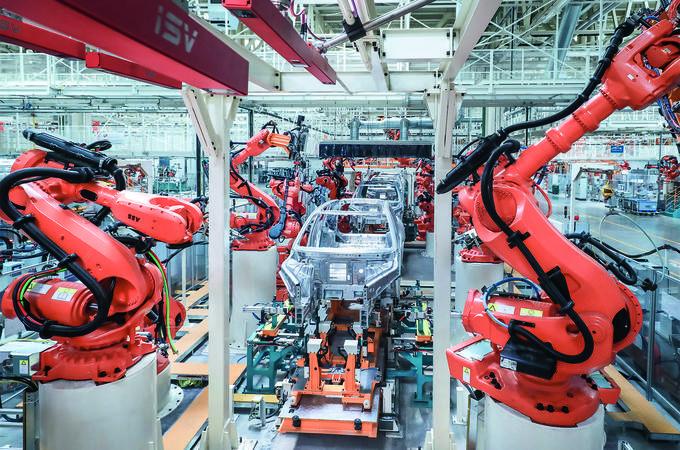 ES8 all-aluminium production line