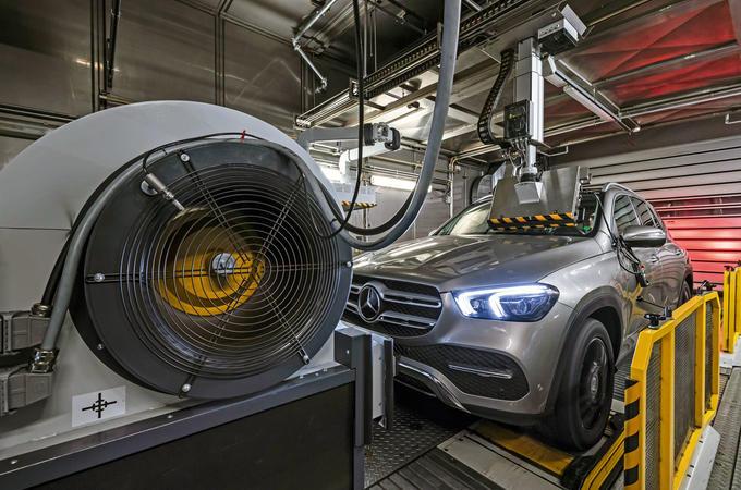 Mercedes-Benz GLC emissions testing