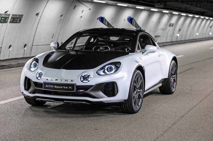 Alpine A110 SportsX concept 2020 - tracking front