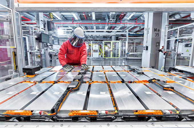 EV battery production