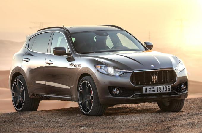 Maserati small SUV render - static front