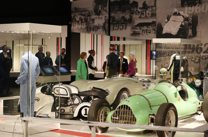 Prince Harry opening the Silverstone museum