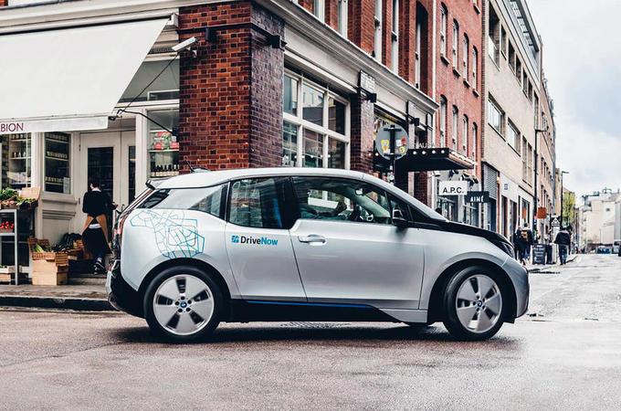 BMW i3 as part of DriveNow car-sharing scheme