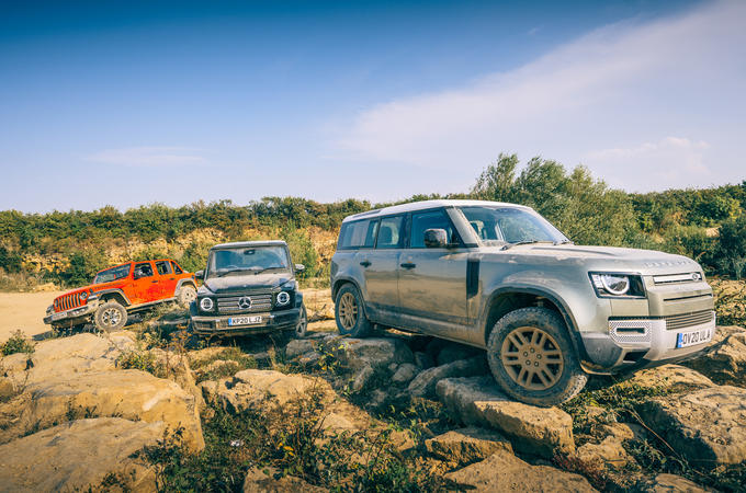 2020 Land Rover Defender vs Mercedes-Benz G-Class and Jeep Wrangler