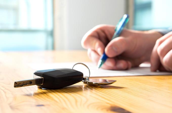 Car keys on table