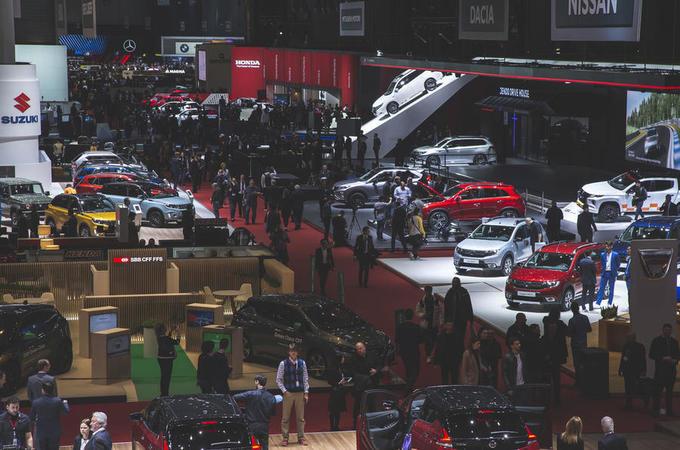 Geneva motor show atmosphere
