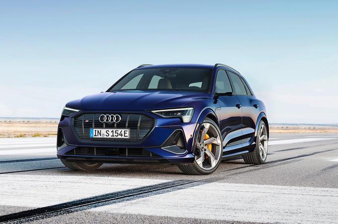 Audi e-tron front three-quarters