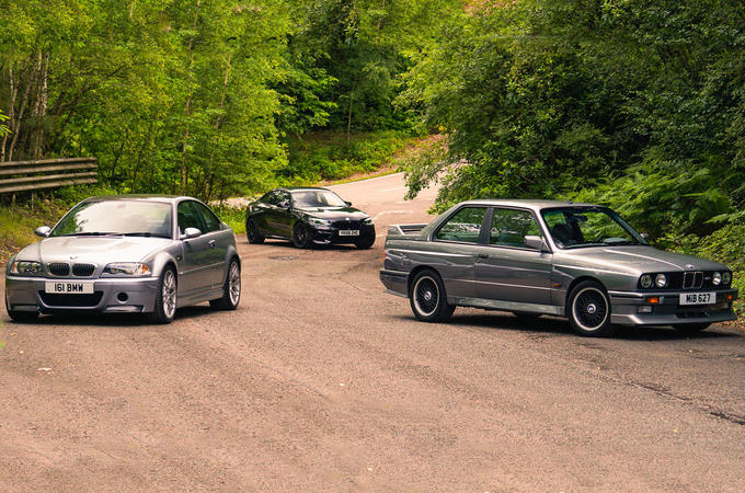 E46 BMW M3 CSL vs BMW M2 Competition vs BMW E30 M3