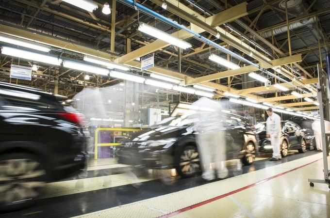 Car manufacturing factories are starting to re-open