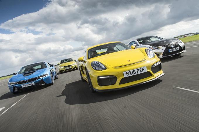 Porsche Cayman GT4, BMW M4, BMW i8