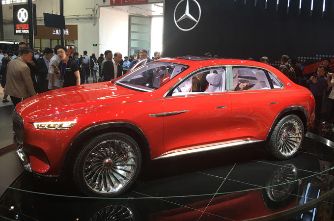 Mercedes-Maybach Vision Ultimate Luxury electric SUV concept revealed