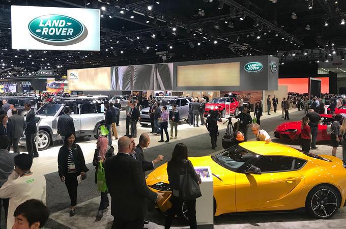 LA motor show 2019 atmosphere