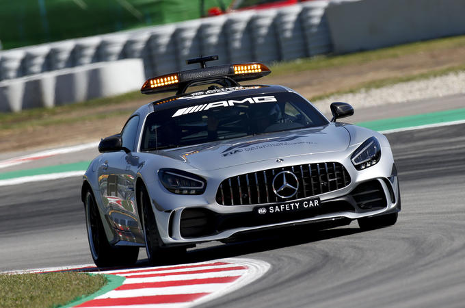 Mercedes-AMG F1 safety car - on circuit