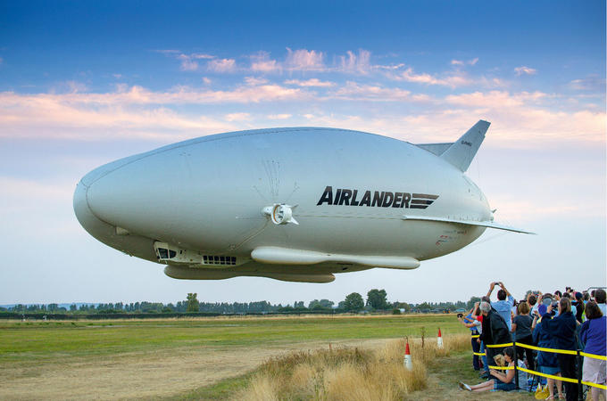 blimp filled with helium