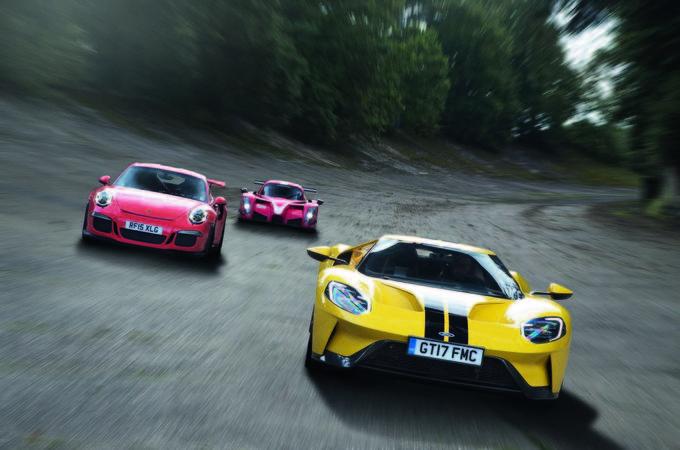 Ford GT vs Radical RXC Turbo vs Porsche 911 GT3 RS