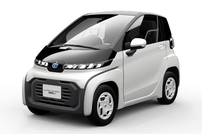 Toyota compact BEV - front