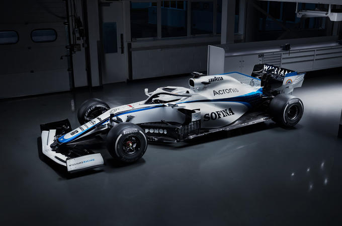 2020 Williams F1 livery official images - at HQ three quarters