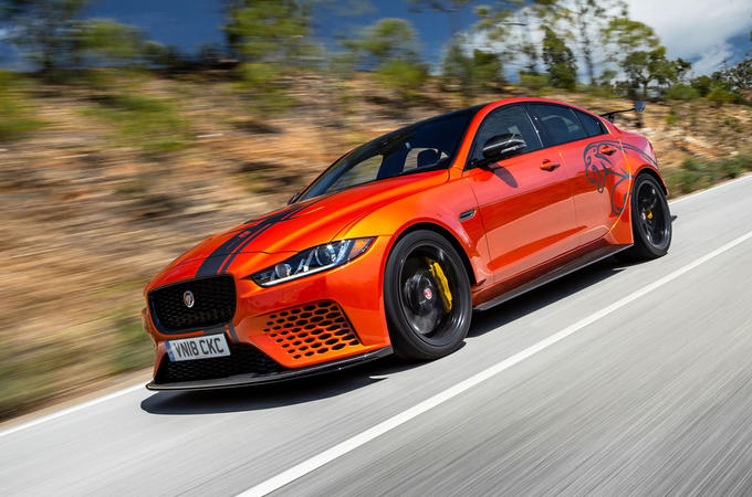 Jaguar XE SV Project 8 2018 road test review hero front