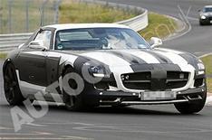 Mercedes SLS spied at 'Ring