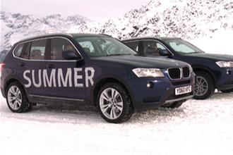 BMW X3 video - summer or winter tyres?