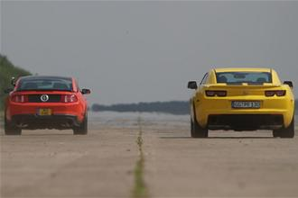 Muscle car drag race video review feature