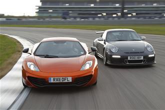 Porsche GT3 RS vs MP4-12C video review