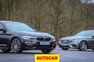 2017 BMW 5-Series v Mercedes-Benz E-Class video