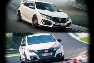 New vs old: Honda Civic Type R Nurburgring record videos compared