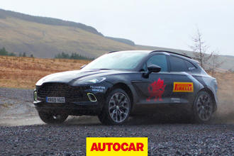 Aston Martin DBX prototype drive video review thumnbail