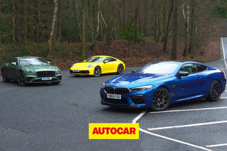 BMW M8 vs Bentley Continental GT vs Porsche 911 video review