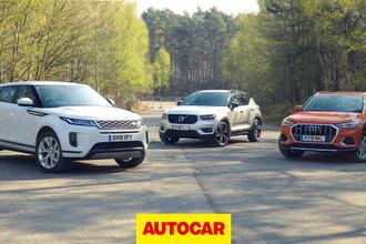 Range Rover Evoque video group test thumbnail