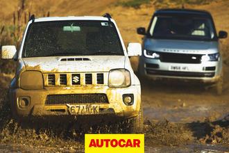Video: Range Rover SVAutobiography vs Suzuki Jimny - off-road battle