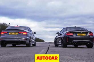 Audi RS3 vs BMW M2 drag race and rolling race – which is quickest?