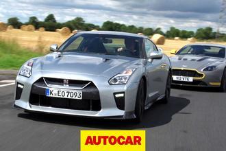 Video: Onboard - Nissan GT-R vs Aston Martin V12 Vantage S