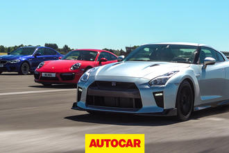 Drag Race: BMW M5 vs Litchfield Nissan GT-R vs 911 Turbo S