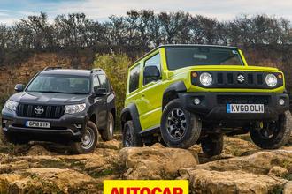 Suzuki Jimny vs Toyota Land Cruiser video thumbnail