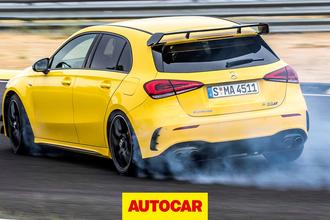 Mercedes-AMG A45 S drifting - rear