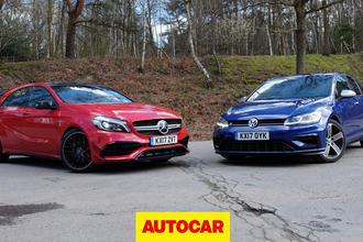Mercedes-AMG A45 versus Volkswagen Golf R review