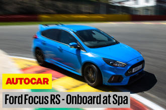 Ford Focus RS Spa onboard