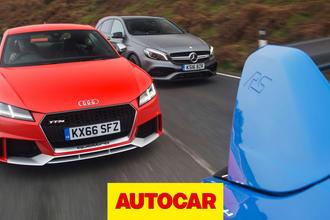 Audi TT RS vs Mercedes-AMG A45 vs Ford Focus RS